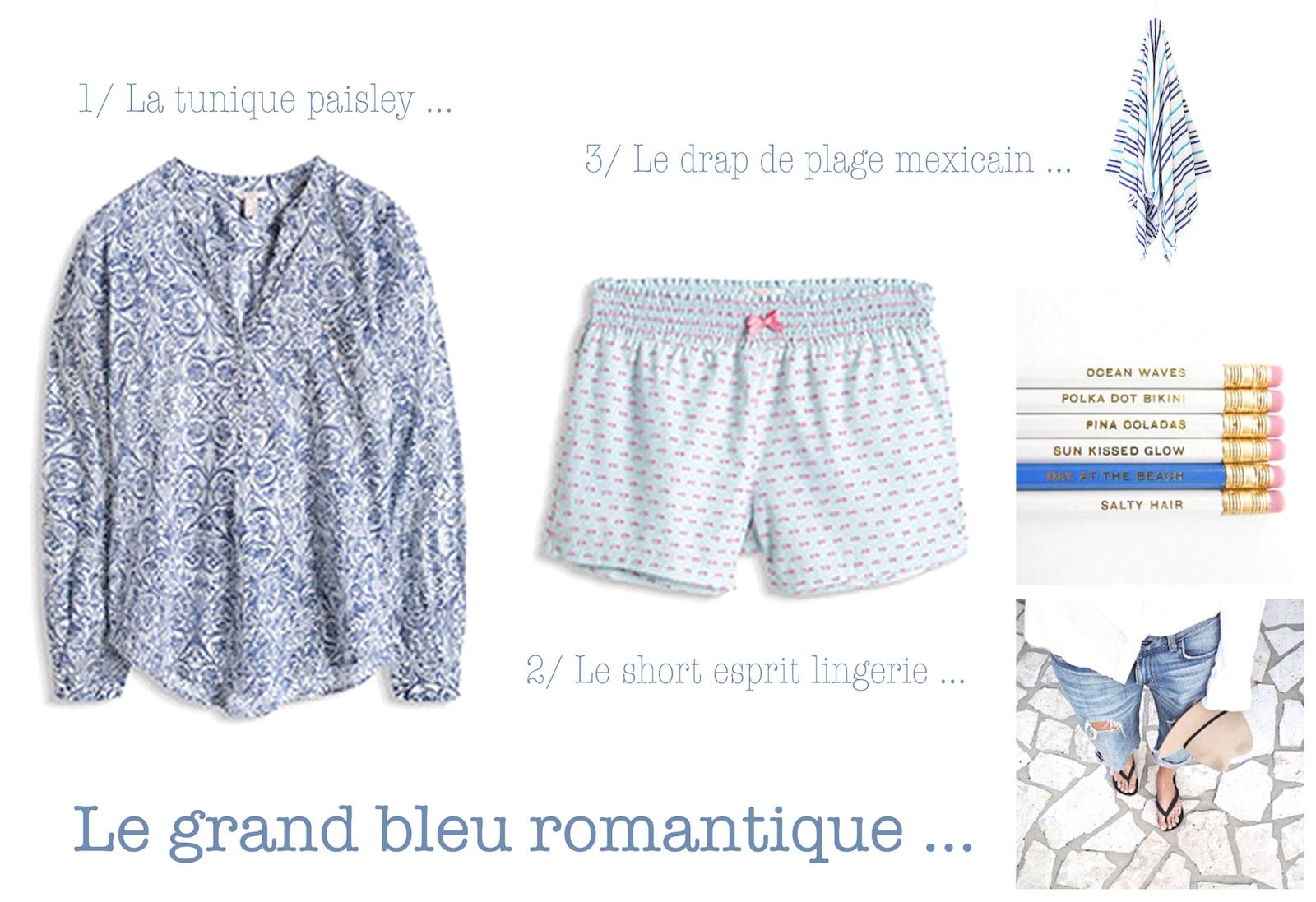 esprit,blouse romantique,romantisme,short,pyjama,las bayadas