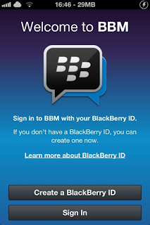 Tampilan BBM for ios iphone dan android samsung