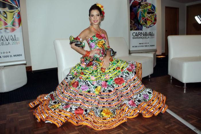 coronación de la Reina del Carnaval de Barranquilla 2014