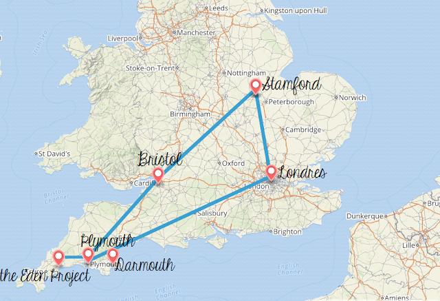 Cartes postales du sud-ouest de l'Angleterre