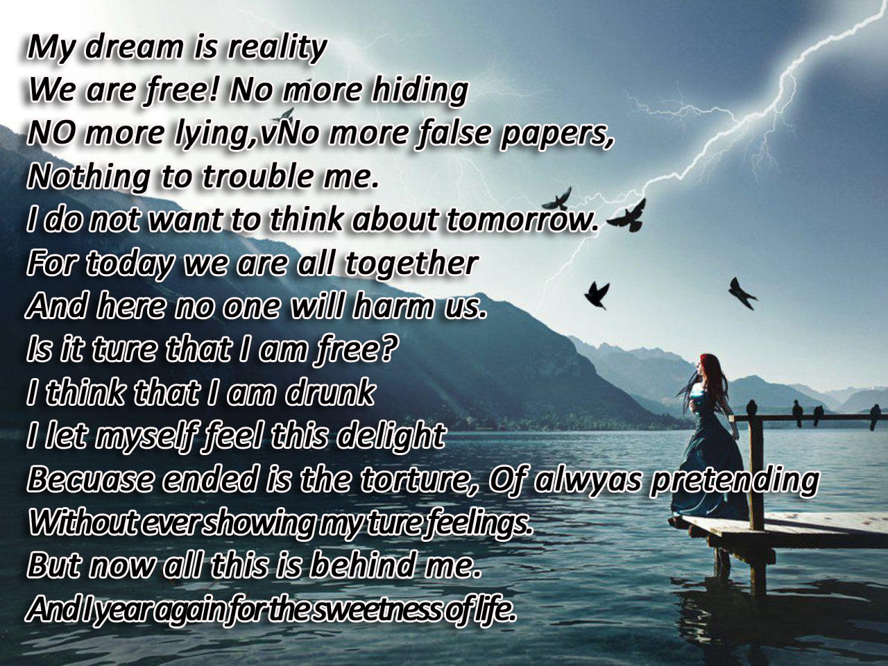 Freedom Poems With HD Wallpaper Free Download My Dream Is Reality