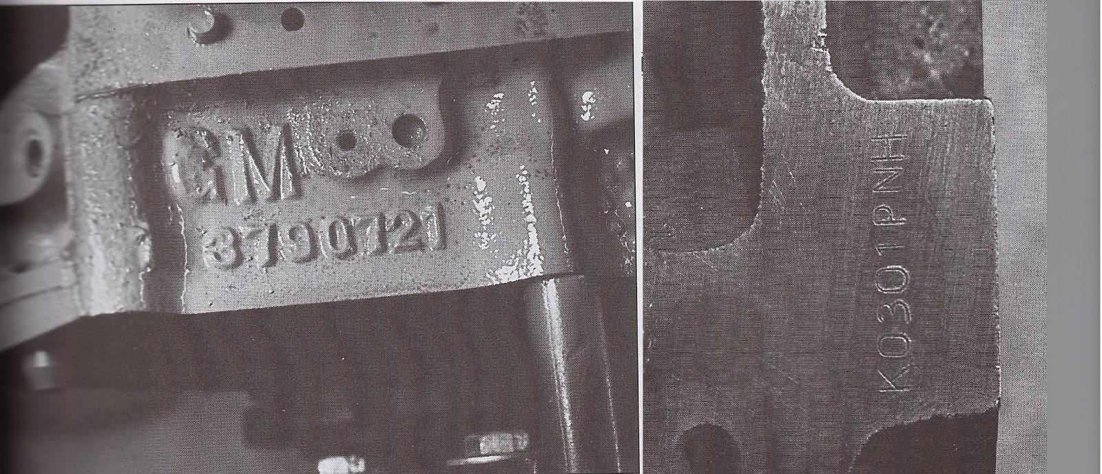 Block Casting Number on Mopar Engine Block Casting Numbers Location