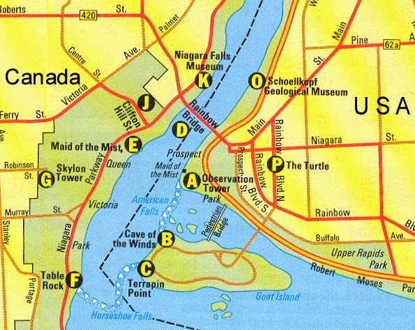 Maps for Niagara Falls Tourists