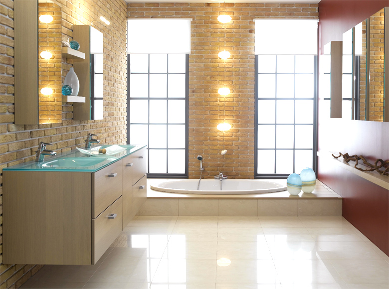 Modern bathroom designs schmidt modern house plans for Sophisticated bathroom design