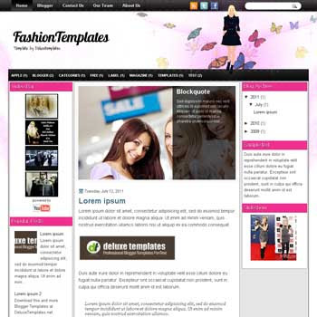Fashion Templates blogger template. template blogspot magazine style. download fashion blogger template