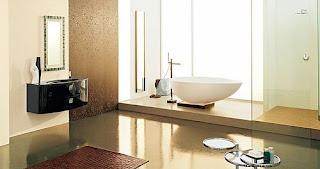 desain kamar mandi warna krem ciptakan suasana tenang dan