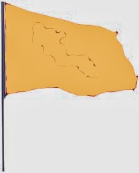 Beige colored waving flag