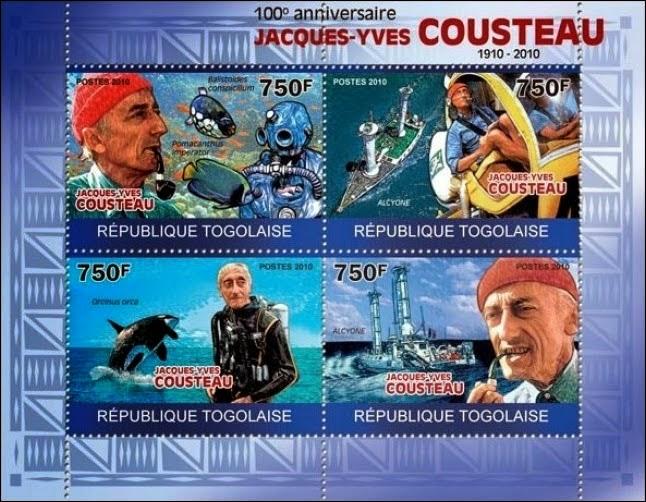 la marcophilie navale  concarneau calypso cousteau et