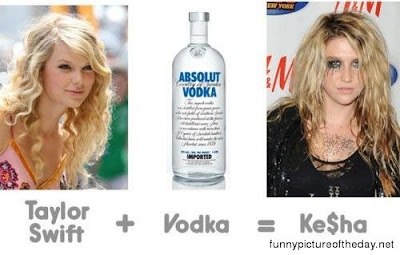 Kesha Ke$ha Funny Vodka Taylor Swift