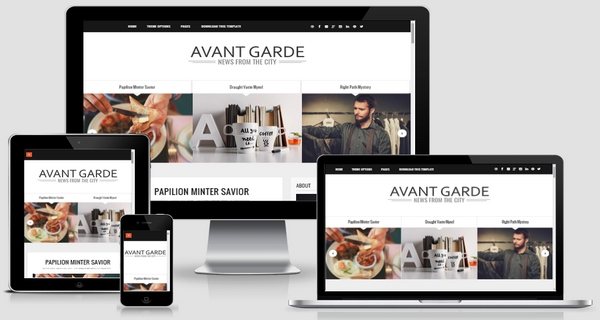 Avant Garde Responsive Blogger Template Free Download