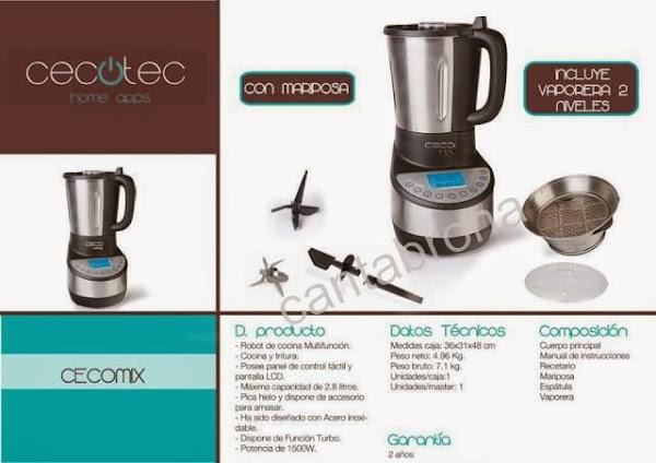 Robot de cocina cocinar en casa es for Robot de cocina multifuncion