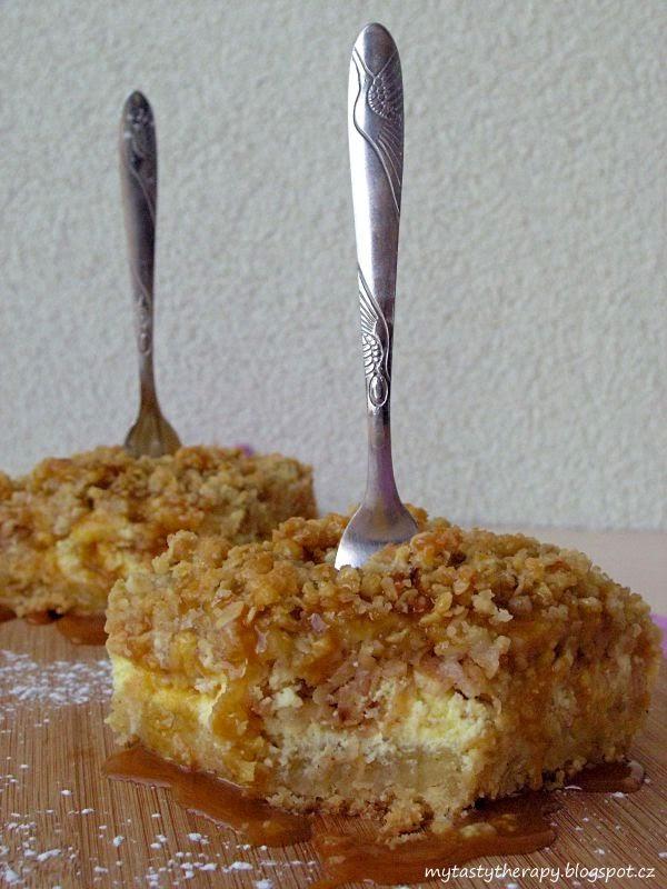 karamelovo-jablečný cheesecake