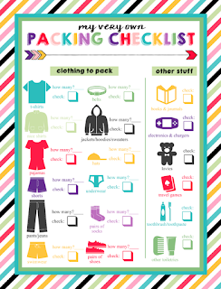 i should be mopping the floor: Free Printable Children's Packing Lists
