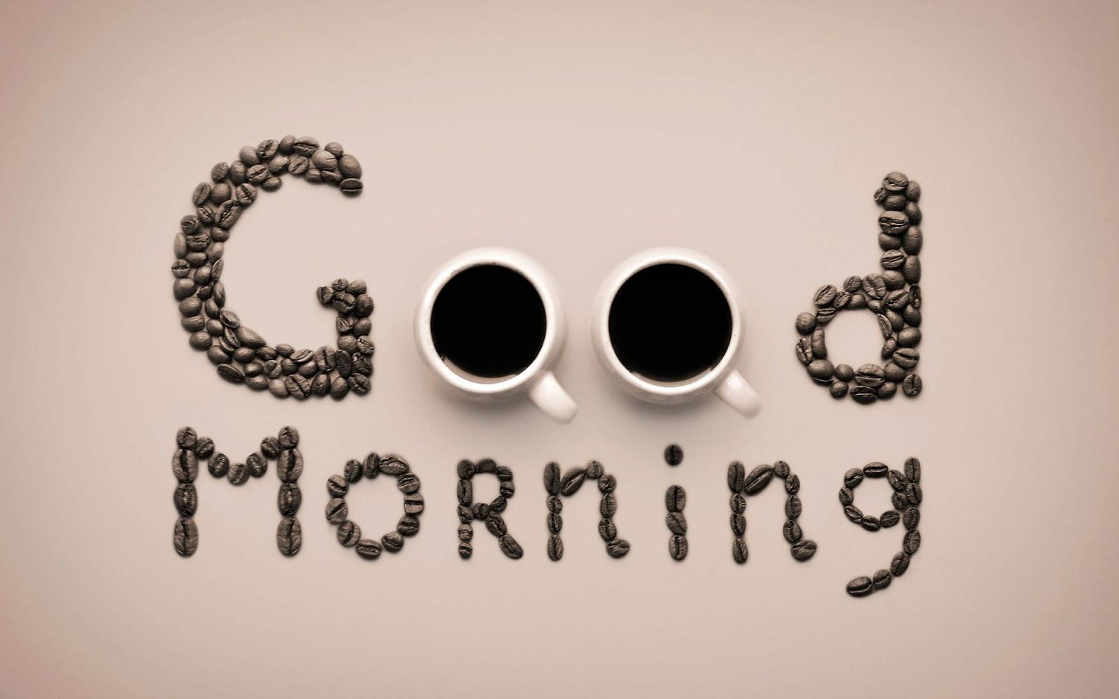 Good Morning Coffee HD Wallpaper