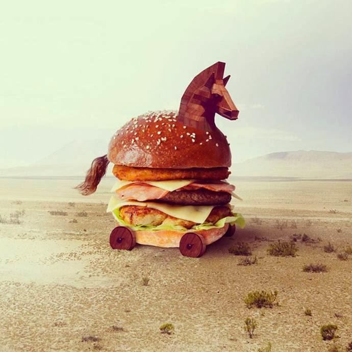 Trojan burger