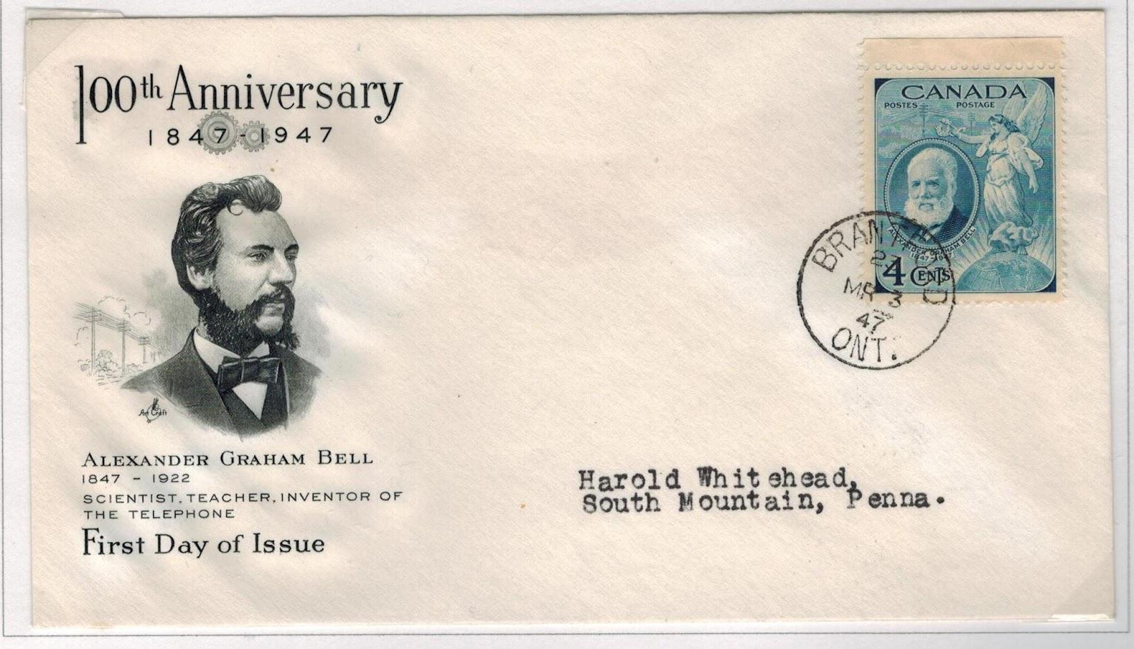 postal history corner alexander graham bell usages