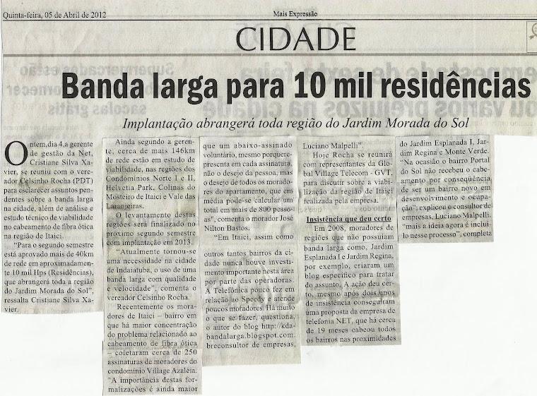 Matéria Jornal Mais Expressão 05/04/2012