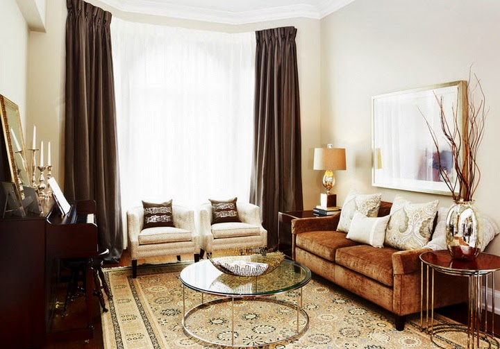 Brown curtains designs and ideas for excellent interior