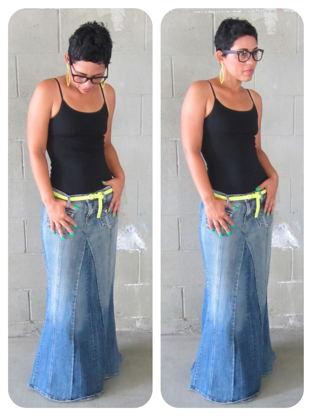 DIY TUTORIAL!!! Reconstructed Jeans to Fabulous Maxi! |Fashion ...