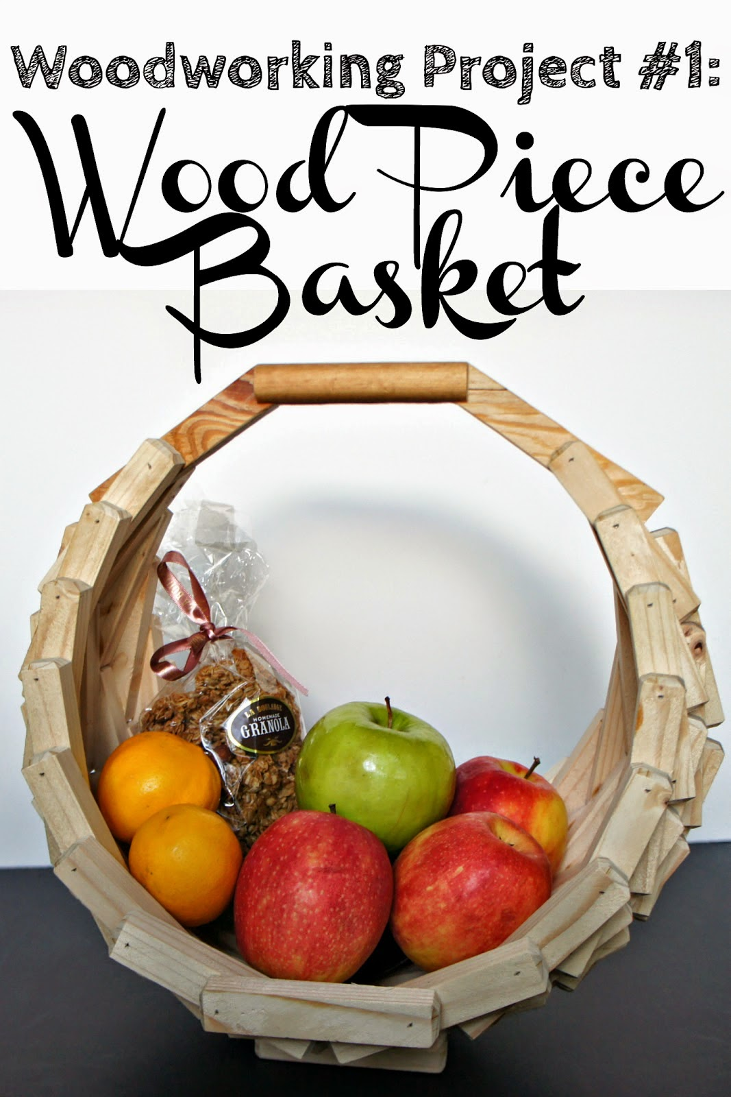 DIY Wood Piece Basket, shared by Vintage Zest