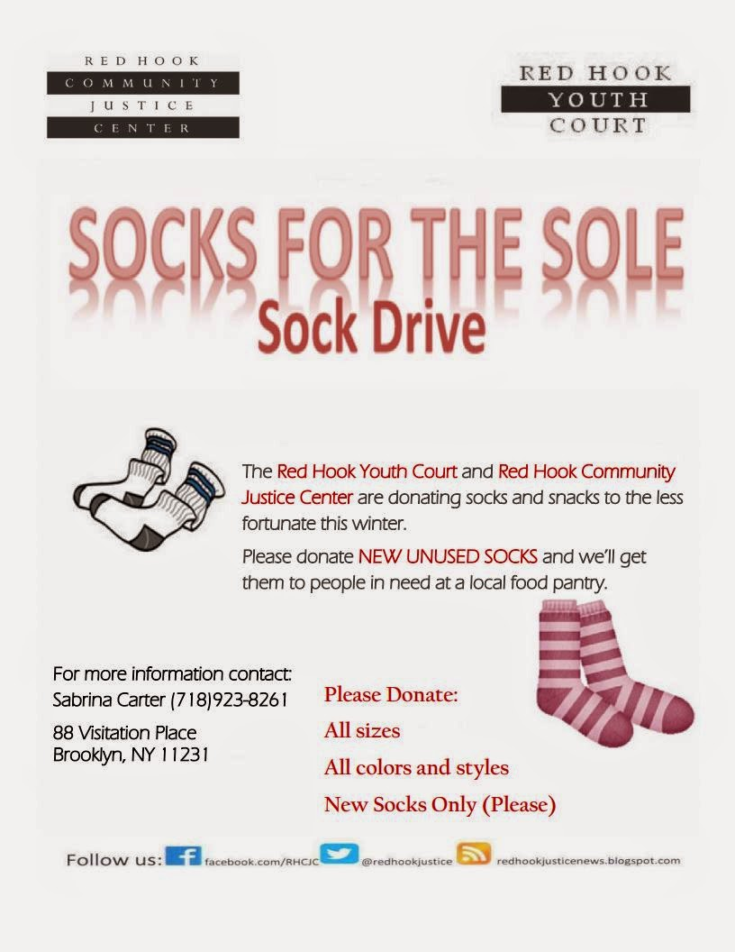 Red Hook Youth Courts Socks For the Sole Sock Drive – Food Drive Flyer Samples