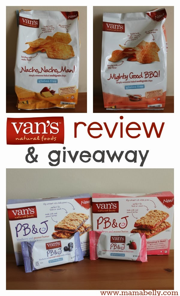 Van's Natural Foods Review - mamabelly.com