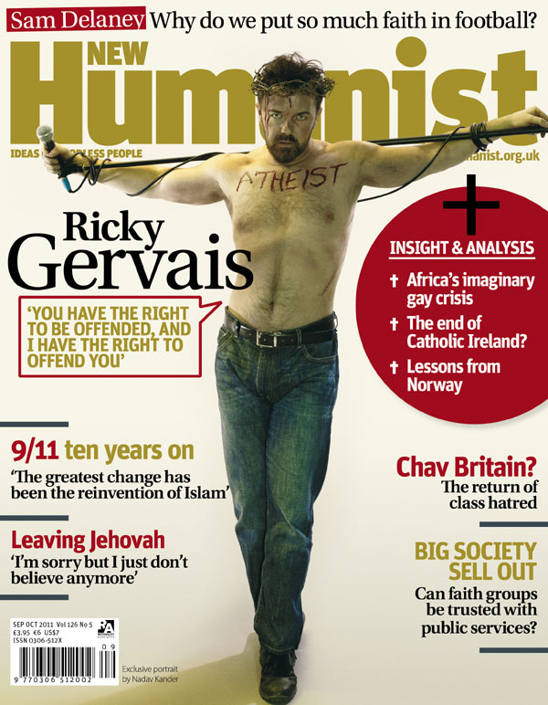 ricky gervais atheist essay Comedian ricky gervais, who authored a controversial essay last christmas called 'why i am an atheist' is back with a religious message sure to irritate many people it's.