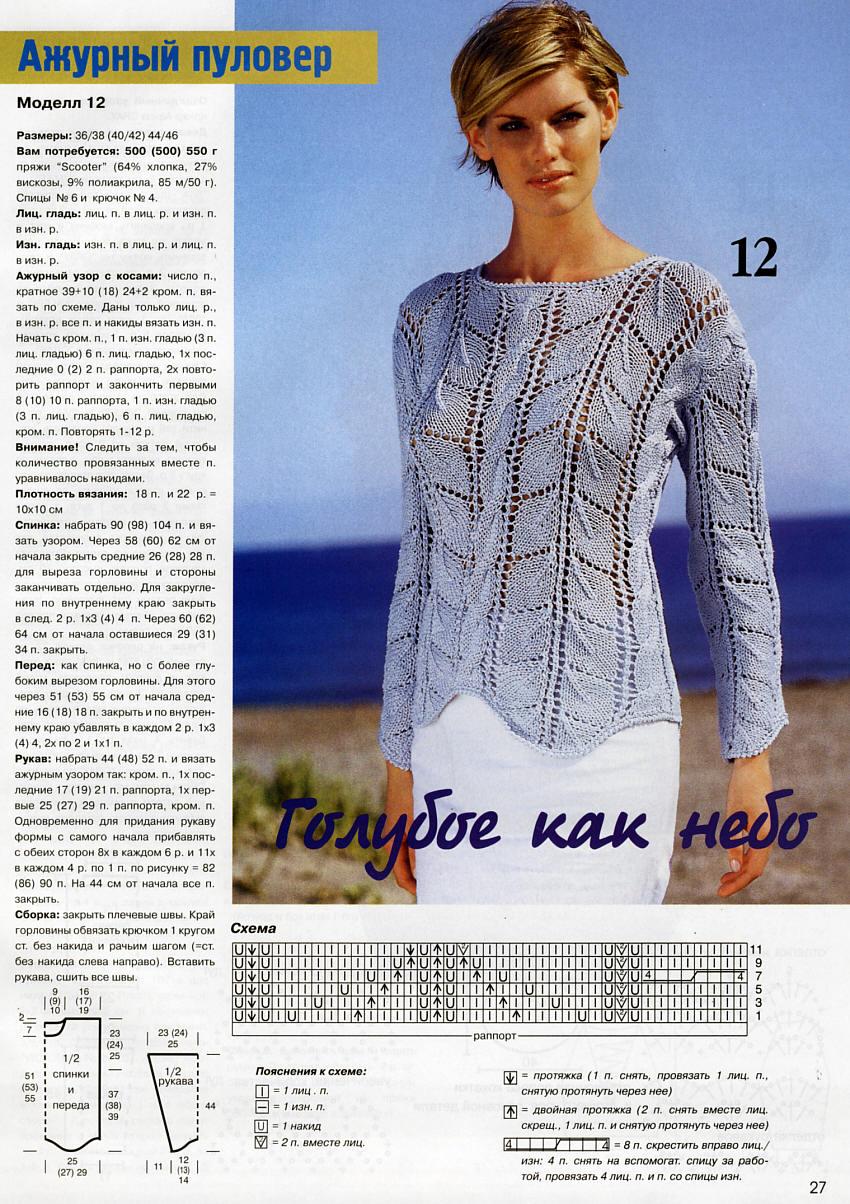 Вязание модели женских джемперов