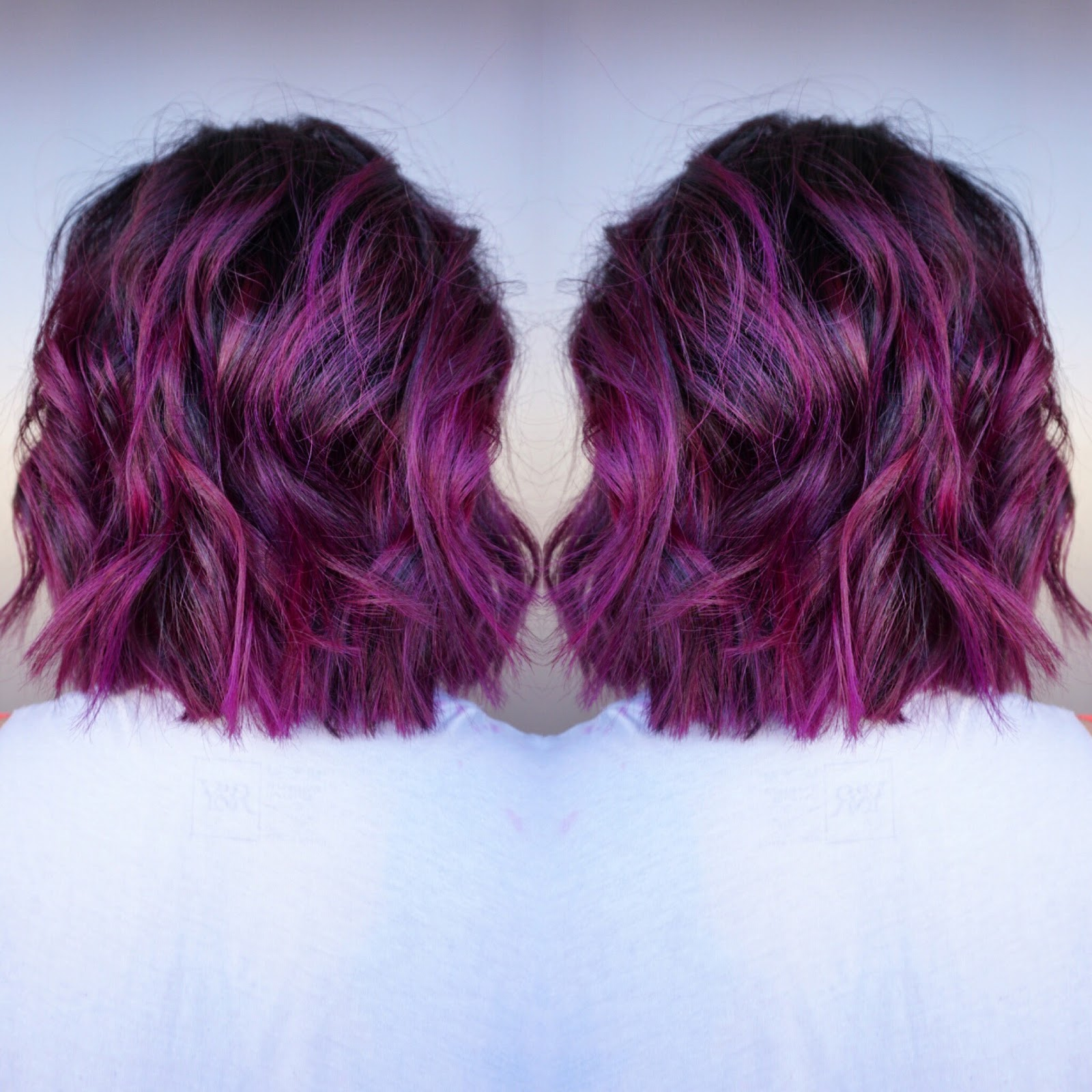 Very Bold Heavy Balayage I Did This Just So Her Purple Color Would POP
