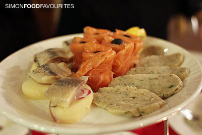 - Smoked Tasmanian Salmon, salted Russian herring with potatoes ...