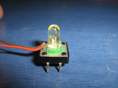Pushbutton with LED light