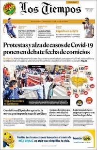 15/07/2020   BOLIVIA   UNA  PRIMERA PÁGINA DE LA PRENSA
