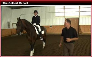 Stephen Colbert's dressage lesson