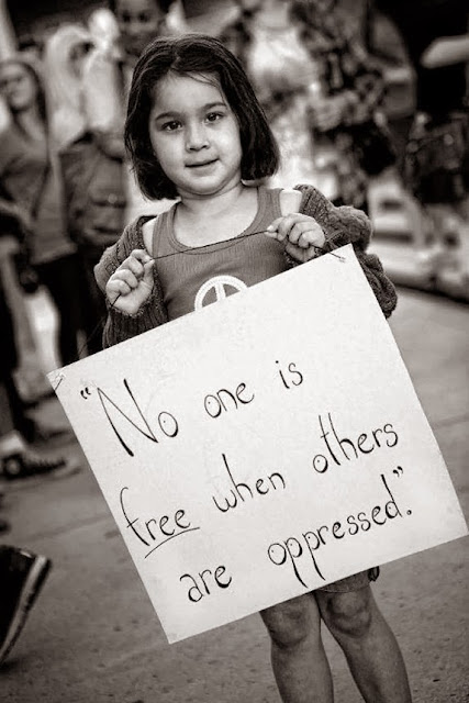 no one is free when others are oppressed