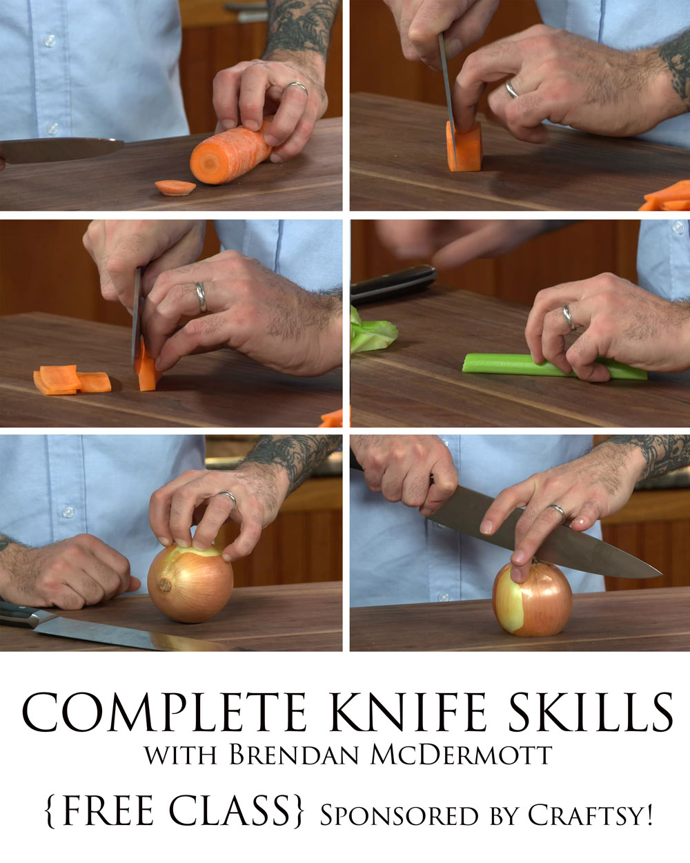 {FREE} Knife Skills Class from Barefeet In The Kitchen & Craftsy