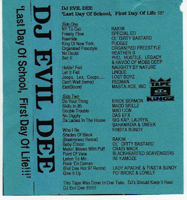DJ Evil Dee ‎– Last Day Of School, First Day Of Life!!! (1995, Cass, 256)