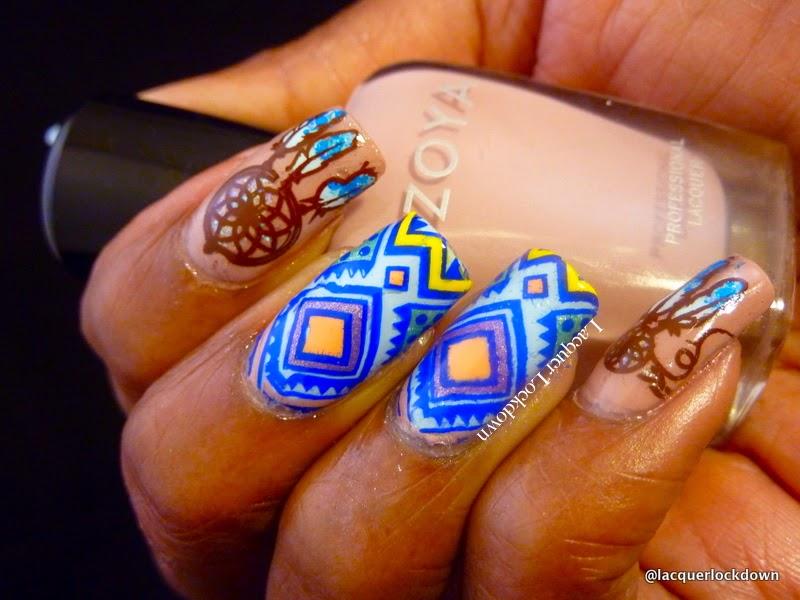 Lacquer Lockdown - zoya nail polish, zoya rue, zoya blu, nail art stamping blog, moyou london, moyou london explorer collection, explorer 11, stamping, nail art, cute nail art ideas, advanced stamping method, dream catcher nail art, mudo de unas 20, mundo de unas stamping polish, cute nail art ideas, diy nail art, cute nail art ideas, new nail art ideas, tribal nail art,