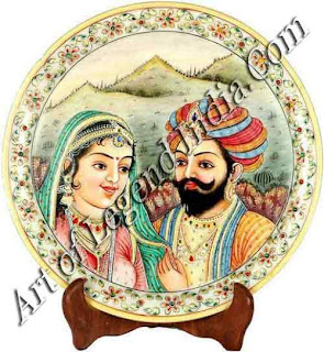 Rajput king with his wife