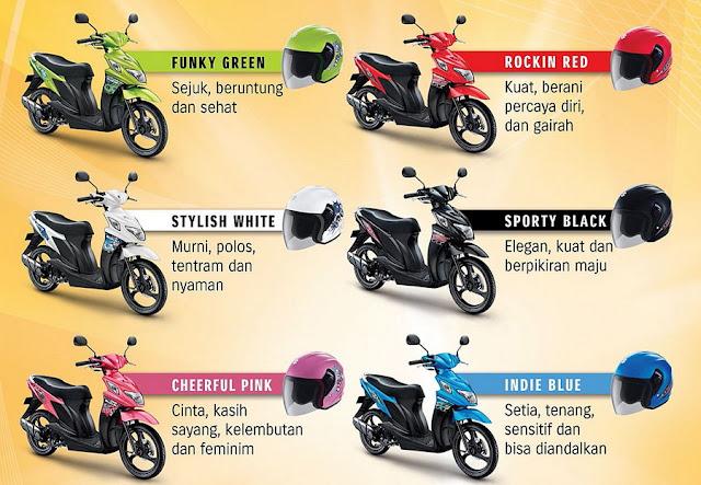 Pilihan warna Suzuki Nex terbaru 2012