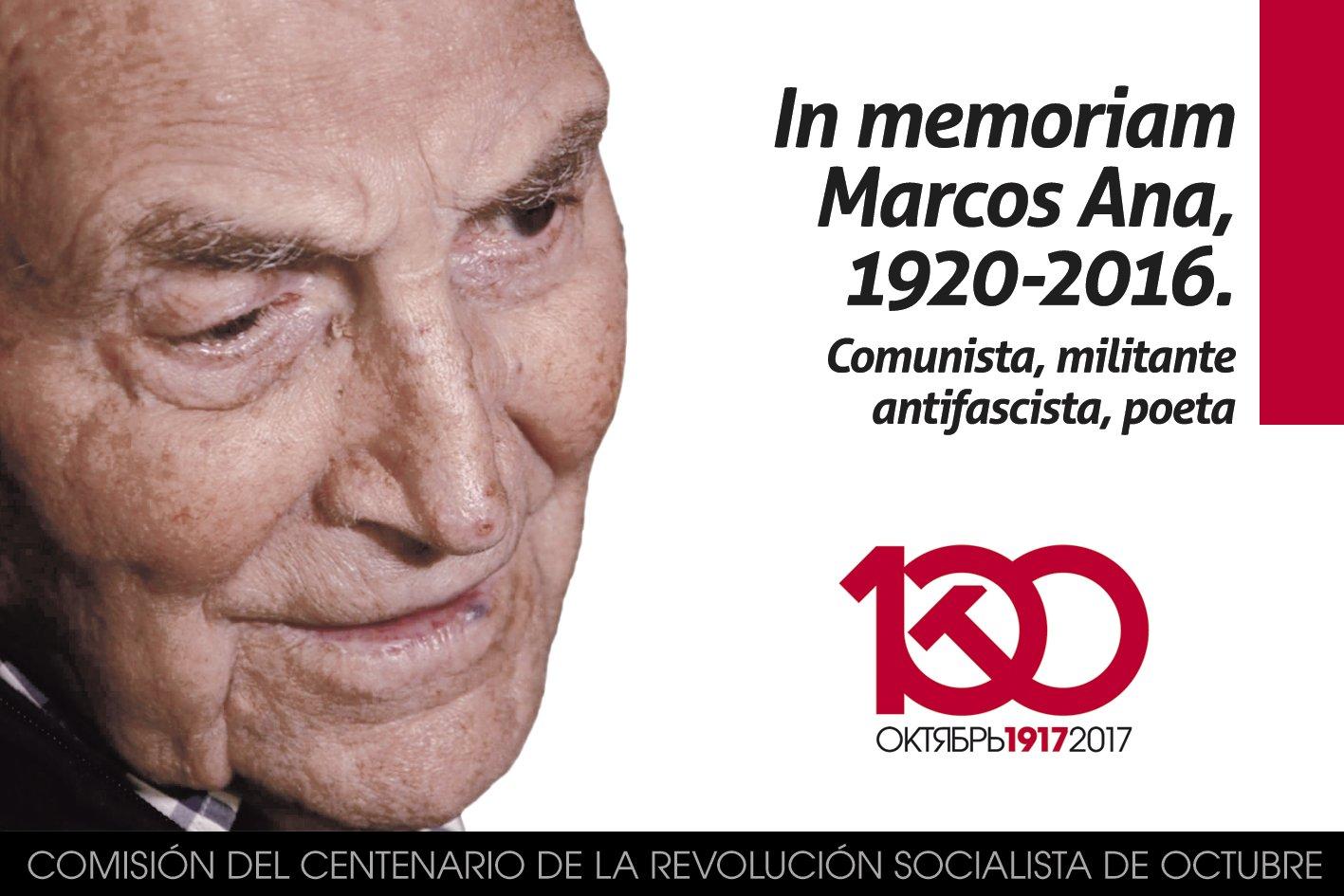 Que tu recuerdo y ejemplo permanezcan entre nosotros, camarada Marcos Ana