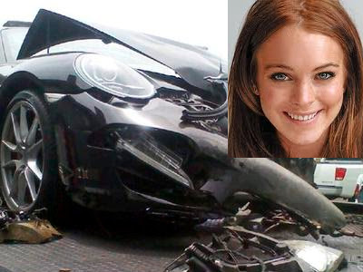 Lindsay Lohan OK after road accident