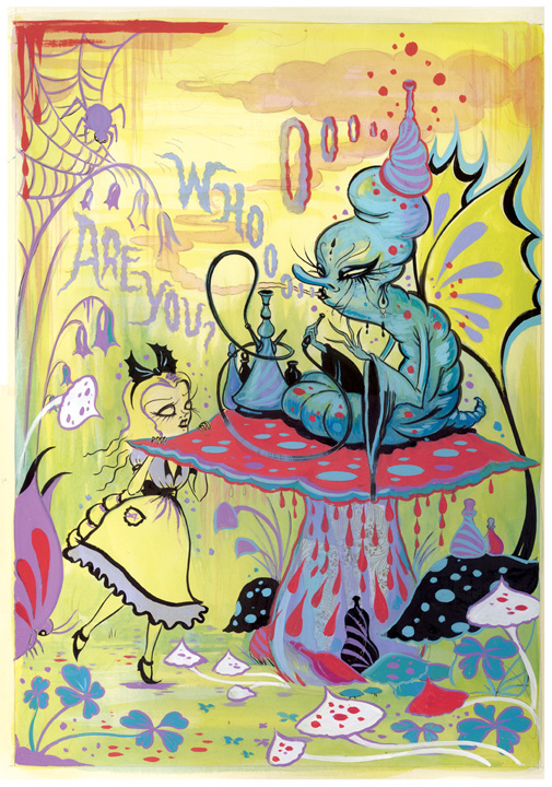 Colorful Alice In Wonderland Painting