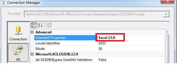 microsoft office 12.0 access database engine ole db provider ssis