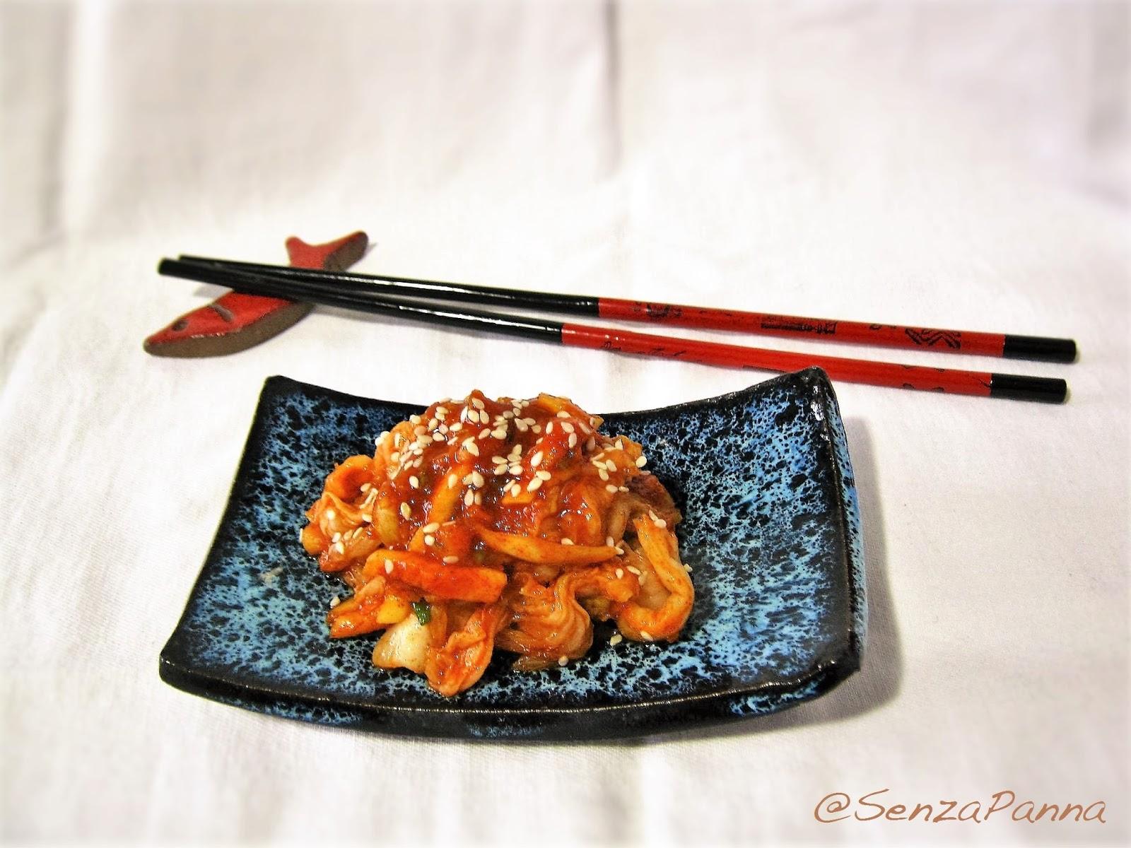 Senzapanna baechu geotjeori o fresh kimchi cucina for Cucina coreana