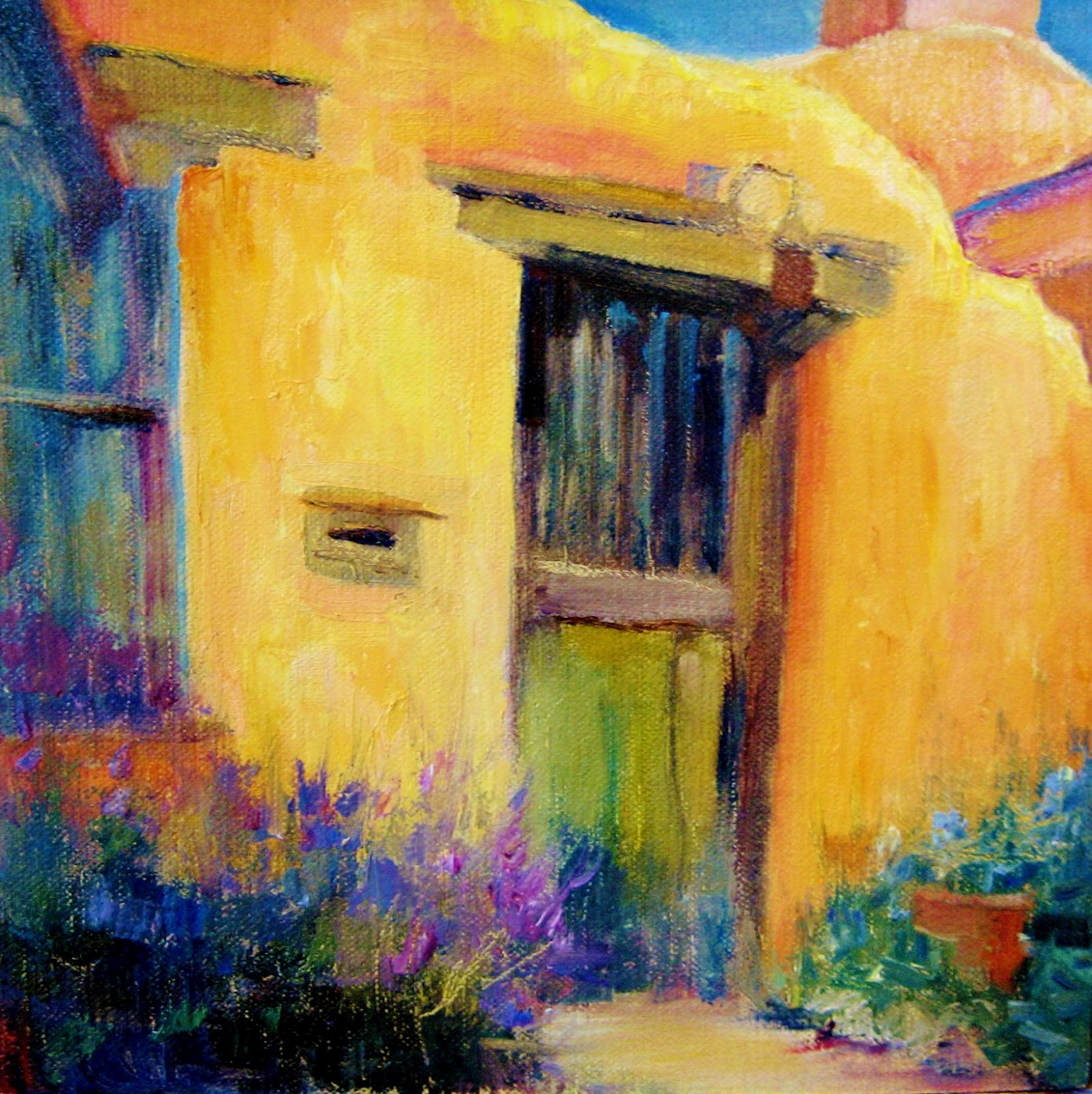 Daily painters of colorado colorful casita oil painting for Oil paintings of houses