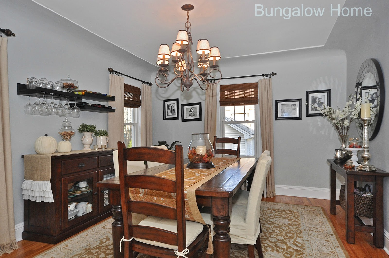 Client decorating project bungalow home staging redesign for Q significa dining room