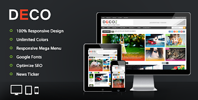 Deco Mag – Responsive Magazine Blogger Template