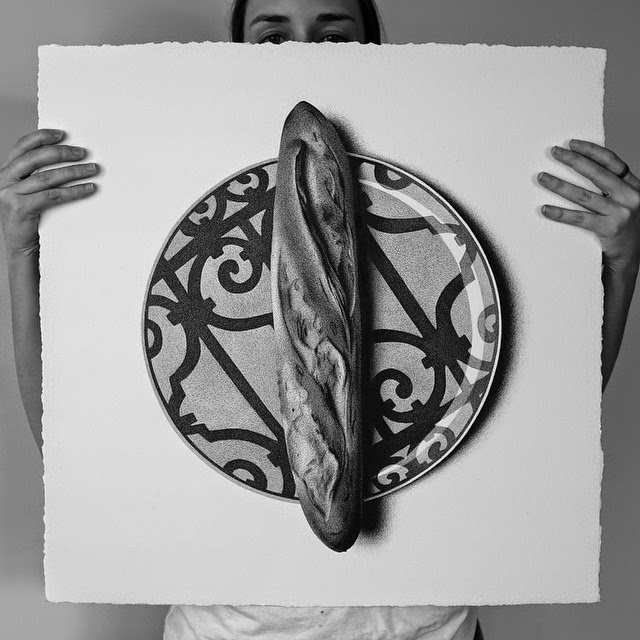 03-Baguette-C-J-Hendry-Hyper-Realistic-Drawings-of-Food-www-designstack-co