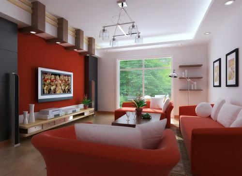 Decoracion Living Rojo ~ 10 35 am decoraciones salones de color rojo todo decoraciones y mas