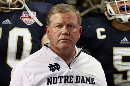 Notre Dame's Brian Kelly is interviewing with the Philly Eagles (Photo: USA Today)